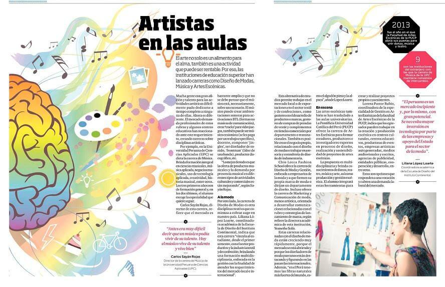 Artistas en las aulas