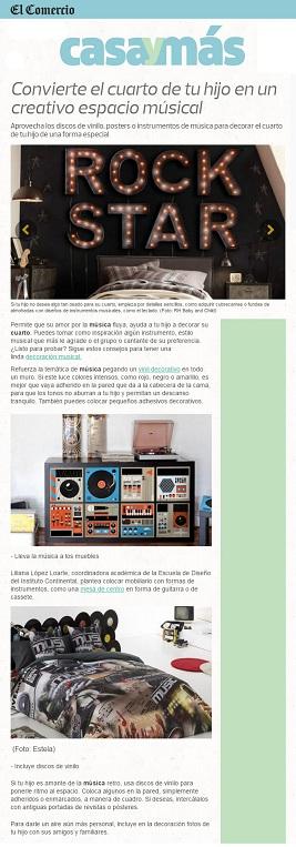 Convierte el cuarto de tu hijo en un creativo espacio músical