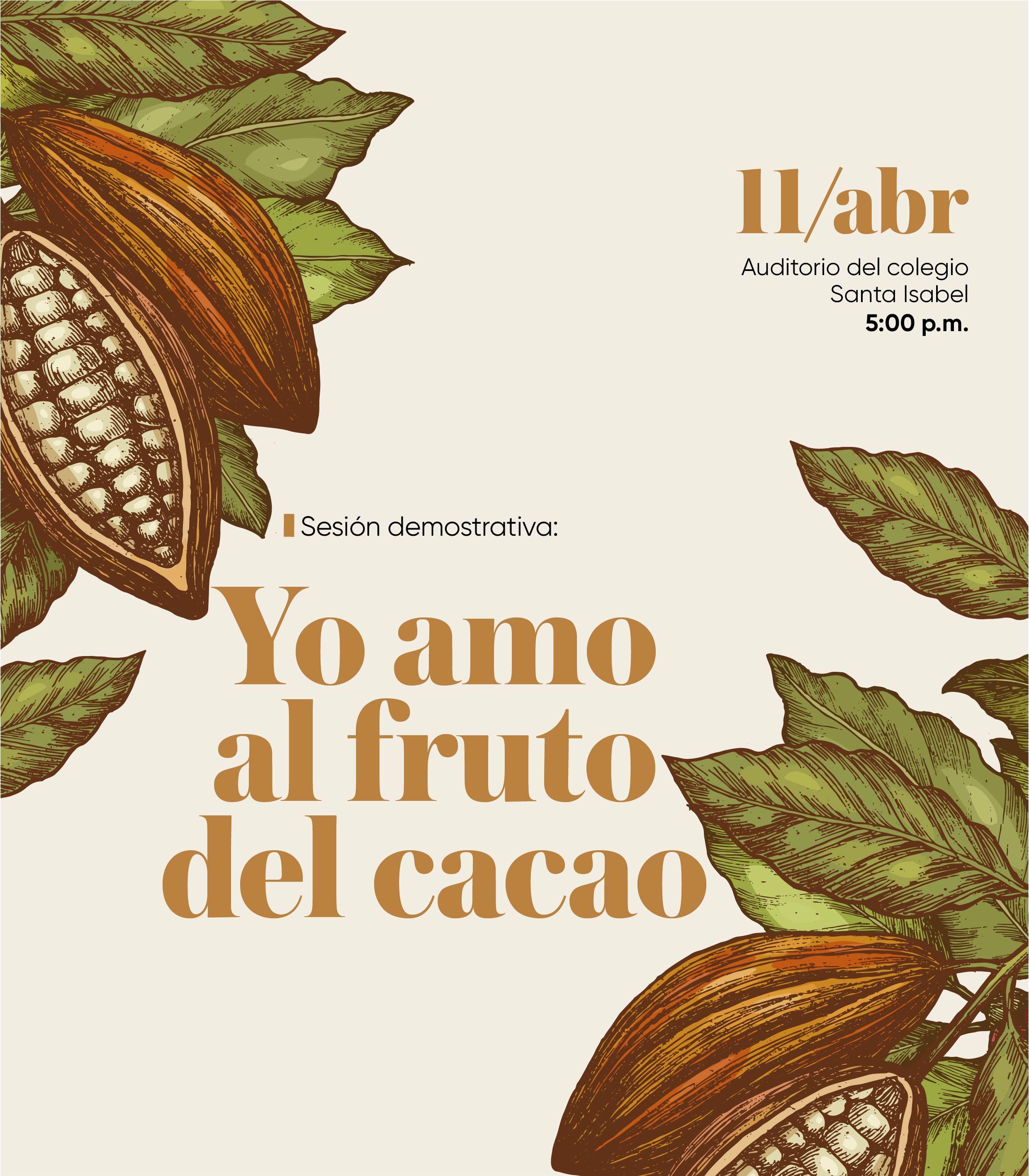 """Escuela de Gastronomía organiza sesión demostrativa: """"Yo amo al fruto del cacao"""""""