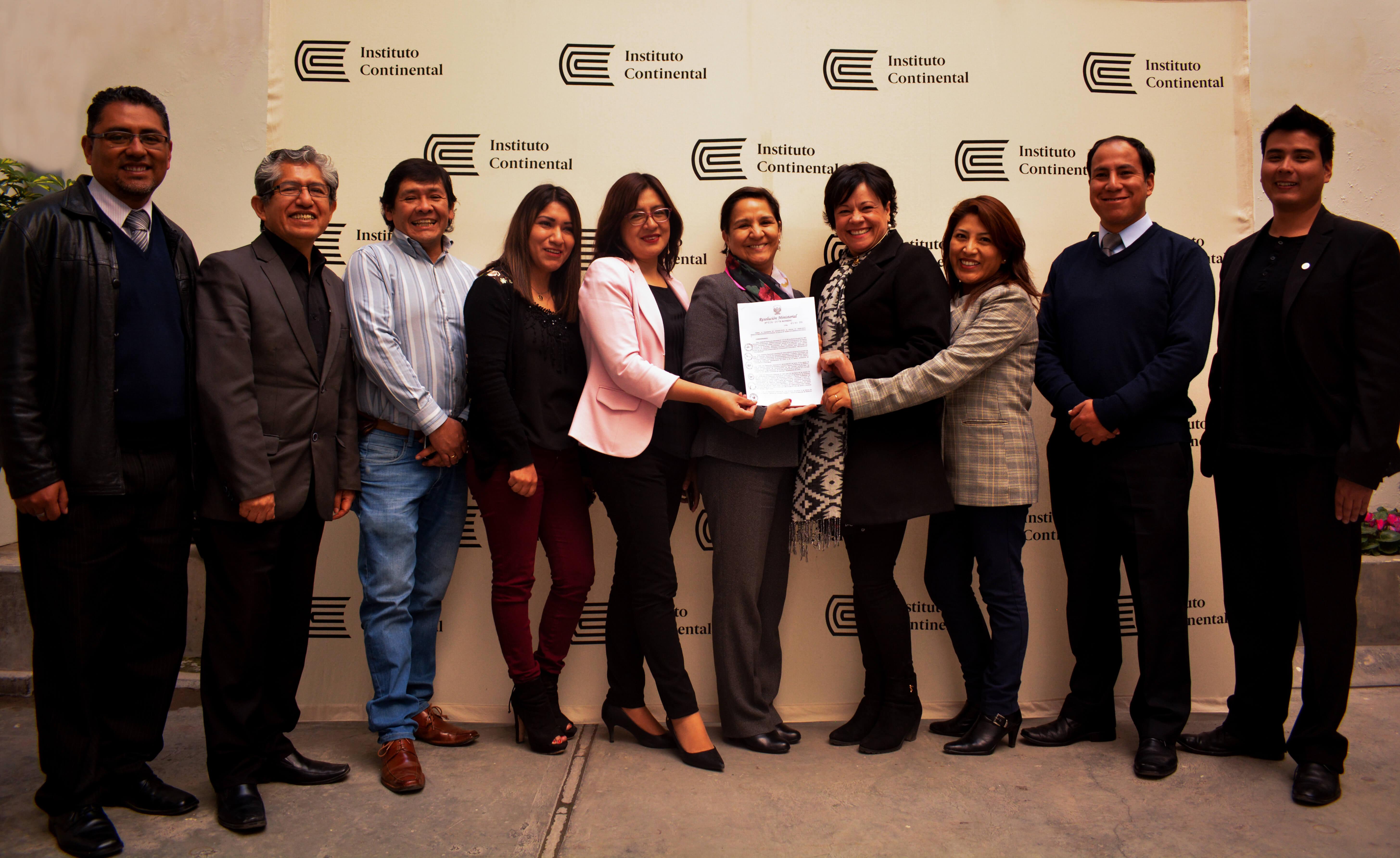 Instituto Continental, primero en la región Junín que obtiene licenciamiento institucional del MINEDU