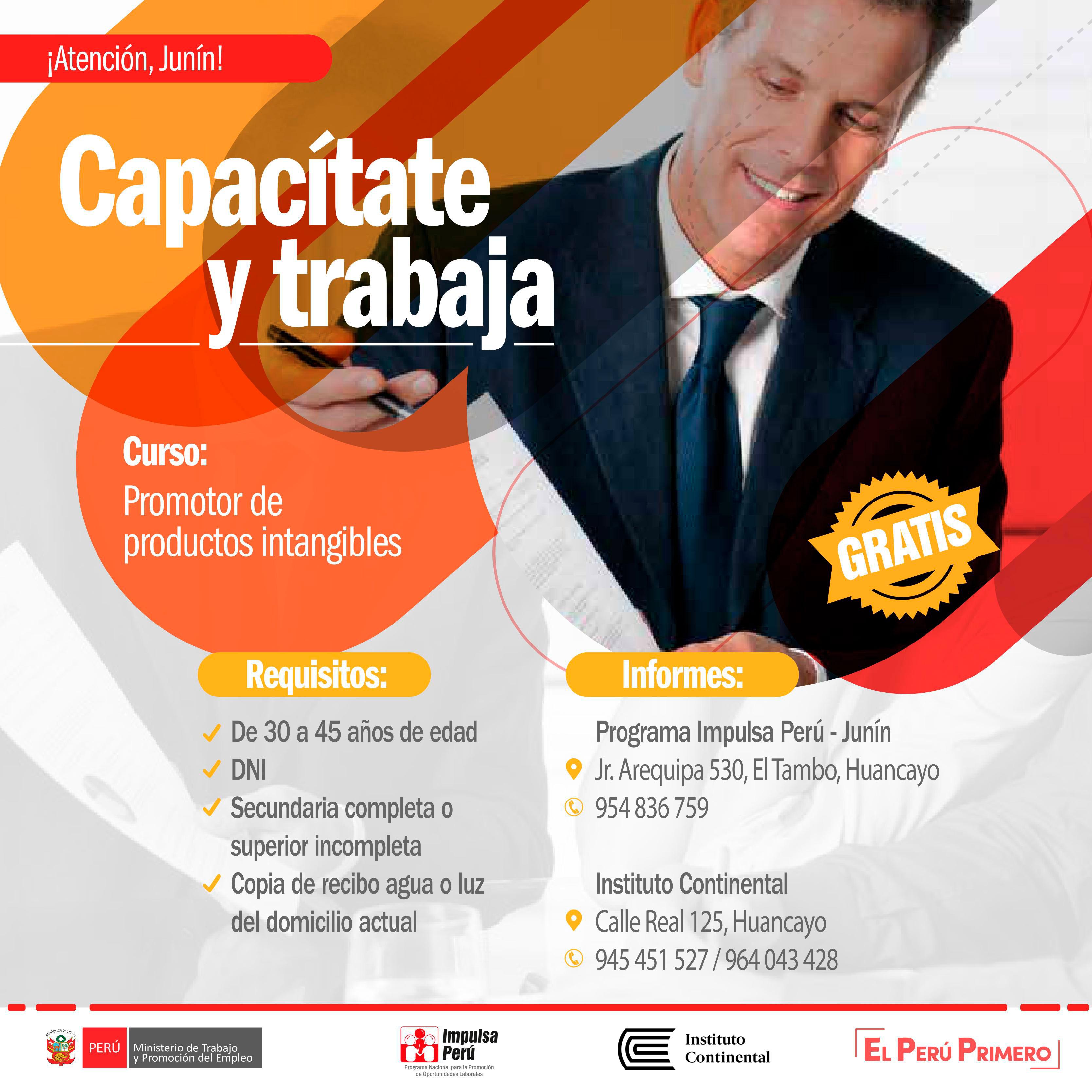 """Instituto Continental e """"Impulsa Perú"""" convocan a capacitación gratuita"""